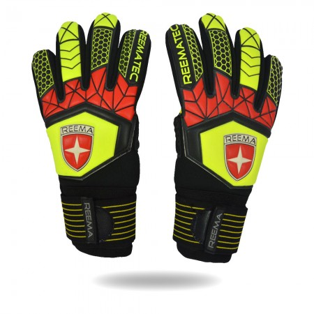 Absolute Grip 2020 | Reematec classic pro goalkeeper gloves size 10 red green black goalkeeper