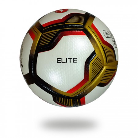 Elite | official size 5 top competition gold red soccer ball